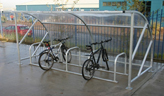 Curved Bike Shelter